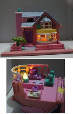 Polly Pocket Bay Window House - '93 COMPLETE