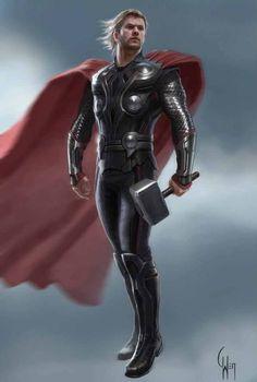Avengers concept art thor
