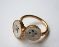 Love This Button Ring. Reminds me of my Mom's wedding ring.