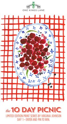 A limited-edition print series by Virginia Johnson for One Kings Lane. A new print every day for ten days. Enter and pin to win a signed print. https://www.onekingslane.com/picnic/