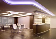 IBM Executive Office - Lighting to guide the path and designate meeting areas