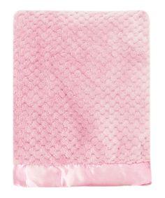 Pink Mon Lapin Popcorn Plush Blanket