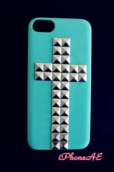 Light Blue Silver Rivets iPhone 5 5s Hard Case  Shop at www.etsy.com/shop/iphoneae $14.98AUD A small present will be offered for each purchase.
