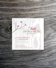 Baby Its Cold Outside Printable Baby Shower by ihearttoparty
