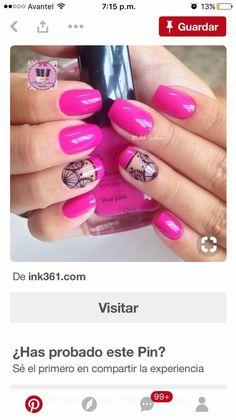Nailart, Pink, Beauty, Enamels, Arabesque, Work Nails, Natural Nail Designs, Nail Designs, Parents