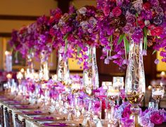 Allowed to help my own website, in this particular moment I will demonstrate in relation to Wedding Themes Purple Gold. gold wedding decor accents from lunabazaar com. Purple And Gold Wedding, Purple Wedding Flowers, Wedding Colors, Bridal Flowers, Tall Wedding Centerpieces, Floral Centerpieces, Reception Decorations, Purple Centerpiece, Table Decorations