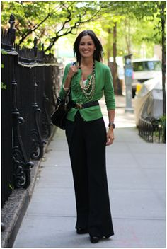 Green sweater--need for my new long black skirt.