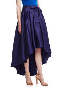 d4d199c9d3 Gracia Women s High-Low Skirt (Denim Blue)