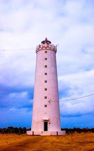 Einsamer Leuchtturm in Island