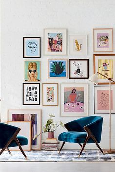 Monroe Slub Velvet Accent Chair by Anthropologie in Blue Size: All, Chairs. This amazing image collections about Monroe Slub Velvet Accent Chair by An. Inspiration Wand, Home Decor Inspiration, Bedding Inspiration, Velvet Accent Chair, Velvet Chairs, Blue Chairs, Art Mural, Art Art, Autumn Home