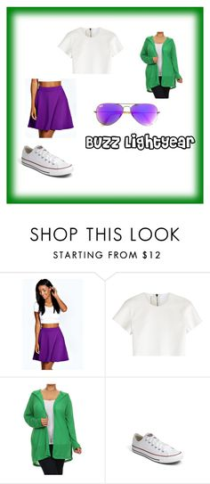 """""""Buzz Lightyear Disney Bound"""" by creampuff0923 on Polyvore featuring Boohoo, Neil Barrett, Converse, Ray-Ban, disneybound and plus size clothing"""