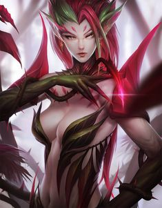 League of Legends: Zyra by ae-rie.deviantart.com on @deviantART