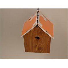 University of Tennessee Volunteers Orange Cedar Birdhouse White T License Plate Roof Handmade $49.99