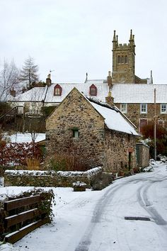 Collessie in snow, Fife, Scotland.I want to go see this place one day.Please check out my website thanks. www.photopix.co.nz