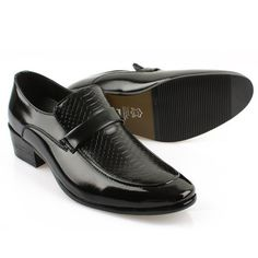 TMD022 New Mens Loafers Slip on Formal Dress Shoes Black | eBay