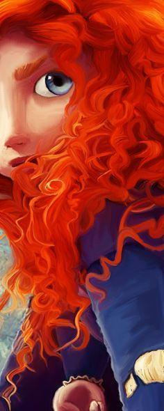 Merida Digital Painting by AllSanityLost.deviantart.com on @deviantART