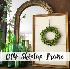 Farmhouse for Five: DIY Shiplap Frame