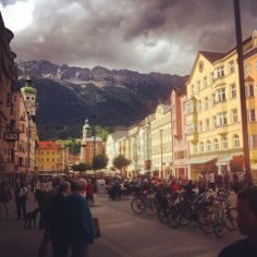 #Maria Theresien Straße Imperial Palace, Innsbruck, Alps, Austria, Abandoned, Medieval, Tower, Street View, Architecture