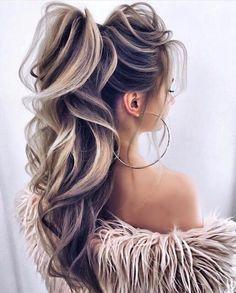 wedding hair ponytail blonde hairstyle ponytail blonde hairstyle transformations Celebrity hairstyle, ideas for a haircut, long blonde hair ideas, short blonde hair ideas, curly hair Ponytail Hairstyles, Summer Hairstyles, Pretty Hairstyles, Wedding Hairstyles, Hairstyle Ideas, Ponytail Haircut, Long Curly Hair, Curly Hair Styles, Pagent Hair
