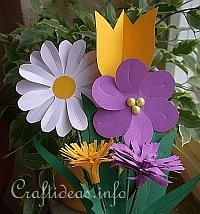 Spring Paper Craft - Color Paper Flower Bouquet