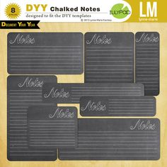Document Your Year Chalked Note Cards by Lynn-Marie at The Lilypad