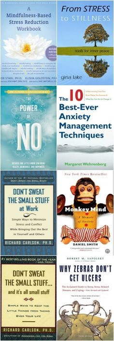 Best Books to Reduce Stress and Anxiety. -----  Part of: 175+ Best Self Improvement Books http://www.developgoodhabits.com/stress-anxiety-books/