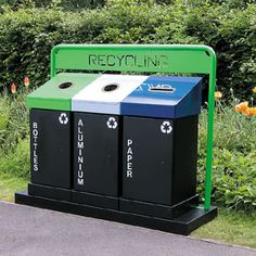 External and Internal Recycling Bins and Systems Urban Furniture, City Furniture, Street Furniture, Online Furniture, Furniture Design, Waste Management Recycling, Mobiles, Garbage Can Storage, Home Lockers
