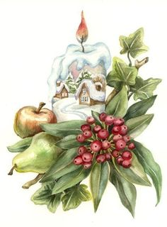 Яндекс.Фотки Christmas Graphics, Christmas Clipart, Christmas Greeting Cards, Christmas Printables, Christmas Greetings, Christmas Scenes, Christmas Art, Winter Christmas, Victorian Christmas