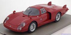 Alfa Romeo 33.2 Coda Lunga, Long Tail Press Car 1968, rot. Tecnomodel, 1/18, No.TM18-08A. Limited Edition 80 pcs. 220 EUR