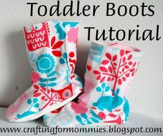 Going Green with the Grizls: You Asked For It....Toddler Boot Tutorial!