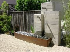 Modern concrete fountain