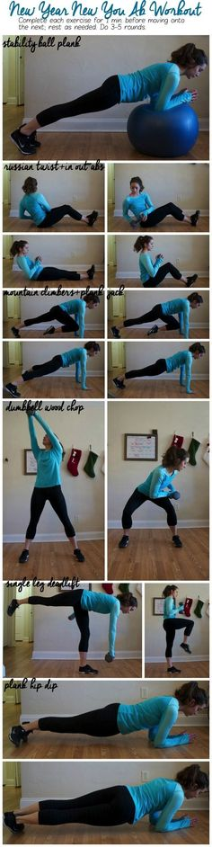 New Year New You Ab Workout | This workout can be done in the comfort of your own living room and takes 18-30 minutes to complete!!