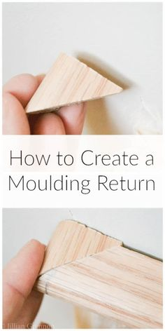 Angles in woodworking can get confusing and frustrating. Don't let that stop you from creating a beautiful return on your moulding and having a professional finish to your work.