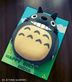 Totoro Birthday Cake by Andrea Hillman, via Behance