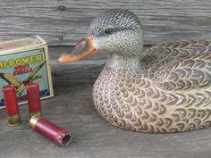 Mallard Duck Working Decoy by Greg Pususta by GregPusustaCarvings, $600.00