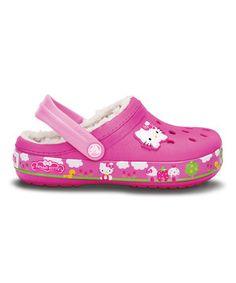 Loving this Neon Magenta Mammoth Hello Kitty® Fair Clog on #zulily! #zulilyfinds
