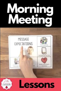 Strengthen your classroom community, help students solve problems, strengthen social skills, and build trust with morning meetings. This class meeting product bridges together aspects of general education, speech, and language to provide teachers with a ready to use year-long classroom meeting curriculum. Lessons, visual expectations, and rings cards for greeting, sharing, activity, and message. #morningmeeting #classmeeting #communitycircle Classroom Meeting, Building Classroom Community, Classroom Schedule, Morning Meeting Activities, Morning Meetings, Morning Work, Student Behavior, Classroom Behavior, Speech Activities