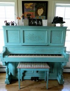Painted Vintage Piano Blue; would match my bedroom perfectly!