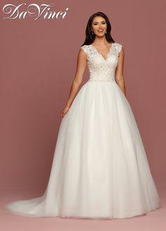 ebaf74c6e2b DaVinci Bridal Style 50490 Scoop Wedding Dress