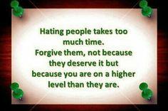 Hating people...