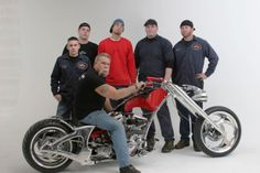 Another Photo of Paul Sr. and the crew at Orange county Choppers. Paul is on a different creation from a few pics. back.