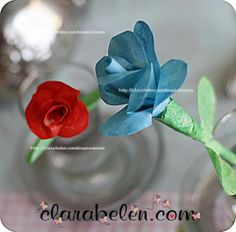 Rosas fáciles con cinta de carpintero o de pintor