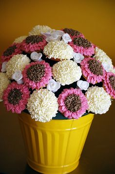 Large Cupcake Flower Bouquet