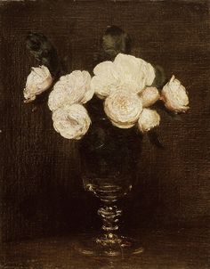 Henri Fantin-Latour Still Life: Malmaison Roses 1872