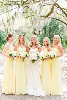 Summer Bridesmaid Dresses, Yellow Bridesmaid Dresses, Wedding Bridesmaids, Wedding Dresses, Fall Dresses, Yellow Wedding, Daisy Wedding, Dream Wedding, Fall Wedding