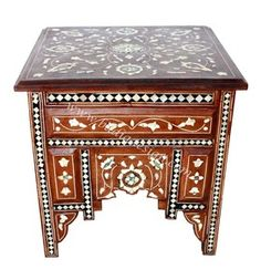 Moroccan Mother of Pearl Coffee Table