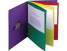 I want this pocket folder.  One pocket for each day of the week to be loaded once a week.  One folder per child.