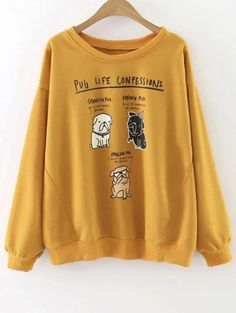 SHARE & Get it FREE | Pug Life Confession Graphic SweatshirtFor Fashion Lovers only:80,000+ Items • New Arrivals Daily Join Zaful: Get YOUR $50 NOW!