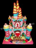 CandyLand Castle Birthday Cake. All Edible.