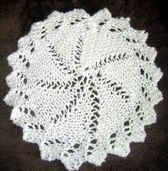Lace Circular Cloth Knitting Pattern